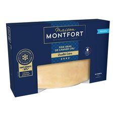MONTFORT Foie gras de canard cru 10 parts 440g