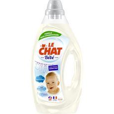 Le Chat Bébé Lessive liquide élaboré avec des pédiatres 30 lavages 1,6l