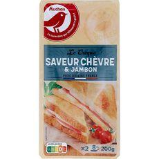 Auchan Le croque saveur chèvre et jambon 200g