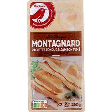 Auchan Le croque montagnard à la raclette fondue et au jambon fumé 200g
