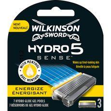 WILKINSON Hydro 5 Sense recharges lames de rasoirs énergisant 3 recharges
