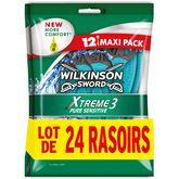 Wilkinson rasoir jetable xtreme 3pur sensitive 2x12