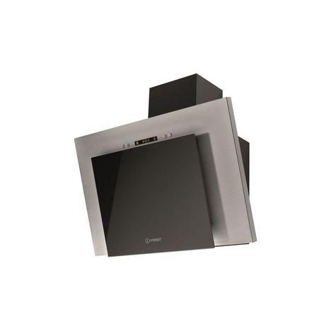 INDESIT Hotte décorative IHVP 6.4 LL K, Évacuation, 60 cm, De 242 à 384 m3/h