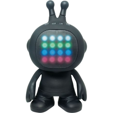 LEXIBOOK Enceinte sans fil lumineuse Bluetooth - BTLS 300 ROBOT -  Noir