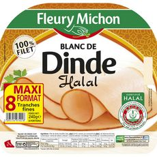 FLEURY MICHON Fleury Michon Blanc de dinde halal 8 tranches 240g 8 tranches 240g