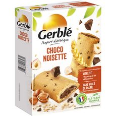 GERBLE Biscuits fourrés choco noisettes, sachets individuels 10 biscuits 200g