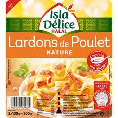 ISLA DELICE Lardons de poulet nature halal 2x100g 200g