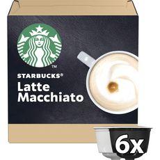 STARBUCKS Capsules de café latte macchiato compatibles Dolce Gusto 2X6 capsules 129g