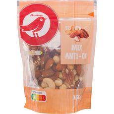 AUCHAN Mélange d'amandes, noix de pécan, noix de cajou et noisettes 150g