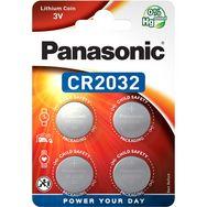 PANASONIC 4 Piles CR2032 Lithium