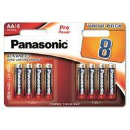 PANASONIC Lot de 8 Piles AA Alcaline LR06 Pro Power