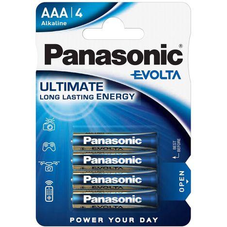 PANASONIC Lot de 4 Piles AAA Alcaline LR03 Evolta