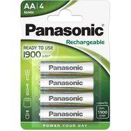 PANASONIC Lot de 4 Piles Rechargeables AA NiMh