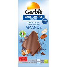 Gerblé Tablette de chocolat extra noir amande sans sucres ajoutés 80g
