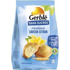 Gerblé sans sucre moelleux au citron 196g