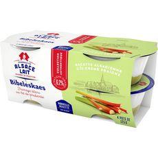 ALSACE LAIT Fromage blanc sur lit de rhubarbes 4x125g 4x125g