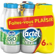 LACTEL Lactel 1/2écrémé bio 6x1l