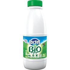 Lactel lait écrémé bio U.H.T. bouteille 1l