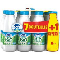 LACTEL Lactel lait demi-écrémé bio 7x1l +1l offert