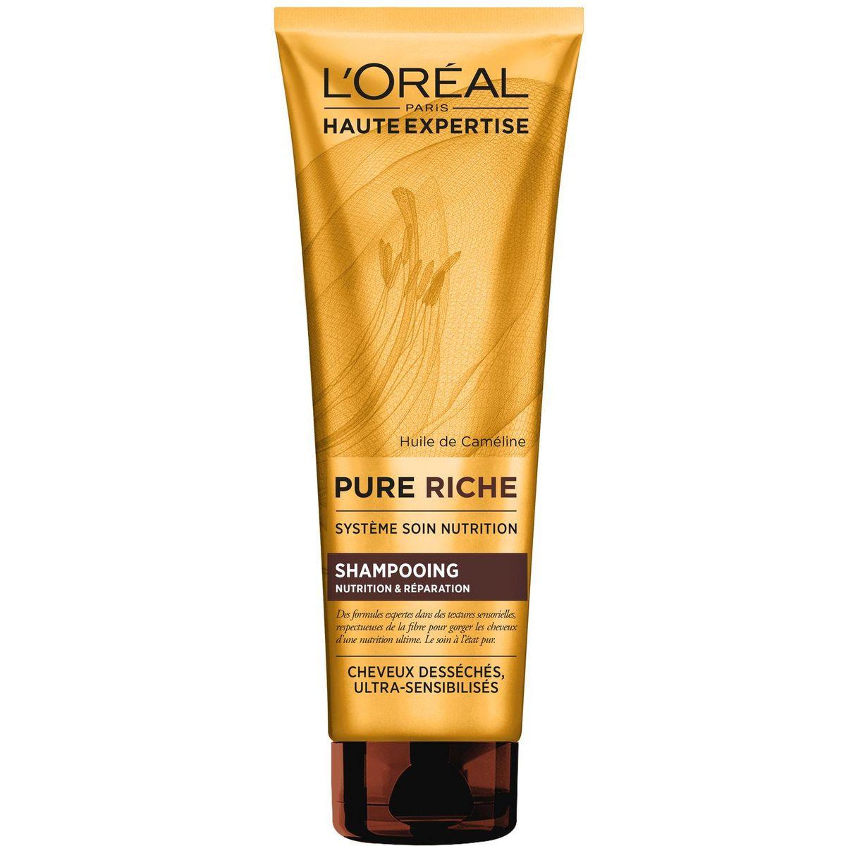L'Oréal Pure Riche shampoing nutrition & réparation cheveux desséchés 250ml