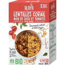 Alaya lentilles corail curry coco tomates curcuma 250g