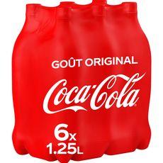 COCA-COLA Boisson gazeuse aux extraits végétaux goût original 6x1,25l