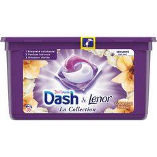 DASH Lenor Lessive capsules 3en1 souffle précieux fraîcheur 35 lavages 35 capsules