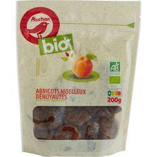 Auchan Abricots moelleux dénoyautés bio 200g