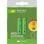 GP Lot de 2 Piles Rechargeables AAA 400 mAh