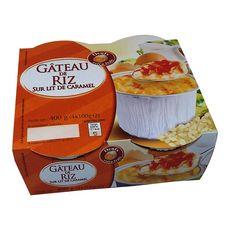 Gâteau de riz sur lit de caramel 4x100g
