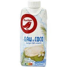 Auchan Eau de coco sans sucre ajouté 33cl