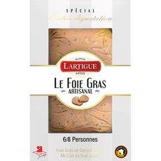 LARTIGUE Foie gras de canard entier mi-cuit du sud ouest artisanal 6/8 parts 250g