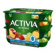 ACTIVIA Activia  Yaourts aux fruits bifidus 0%MG 12x125g 12x125g