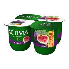 ACTIVIA Yaourt au bifidus saveur figue 4x125g