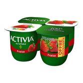 Danone ACTIVIA Yaourt au bifidus fraise 4x125g