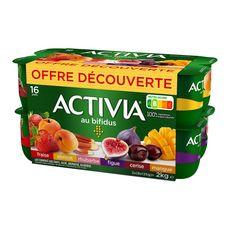 ACTIVIA Activia Yaourts au bifidus et aux fruits panachés 16x125g 16x125g