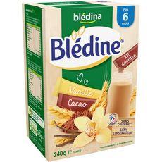 BLEDINA Blédine Dosettes vanille cacao en poudre 240g dès 6 mois
