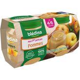 Blédina pot pommes 2x130g dès 4/6 mois