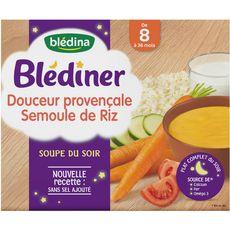 BLEDINA Blédiner douceur provençale de légumes 2x25cl dès 8 mois