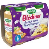 Blédina semoule vanille fleur d'oranger pot 2x200g dès 6mois