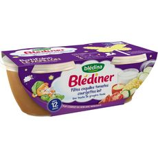 BLEDINA Blédiner bol pâtes tomate courgette et lait dès 12 mois 2x200g