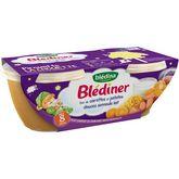 Blédina Blédina Blédiner bol carotte patate douce semoule et lait dès 8 mois 2x200g