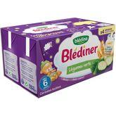 Blédina Blédina Blédîner brique céréales lactées légumes verts dès 6 mois 4x250ml