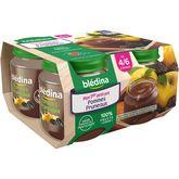 Blédina pots fruits pomme pruneaux 4x130g dès 4-6mois