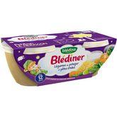Blédina Blediner légumes du potager et pâtes bol 2x200g dès 12 mois