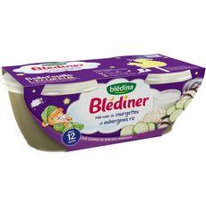 BLEDINA Blédina Blédiner bol courgettes aubergines et riz dès 12 mois 2x200g 2x200g