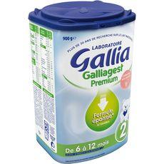 GALLIA Galliagest Premium 2 lait 2ème âge en poudre épaissi dès 6 mois 900g
