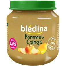BLEDINA Blédina pommes coings pot 130g dès 4/6mois