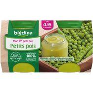 Blédina pot aux petits pois 2x130g dès 4/6 mois