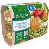 Blédina petits légumes p. de terre colin 2x200g dès 6 mois